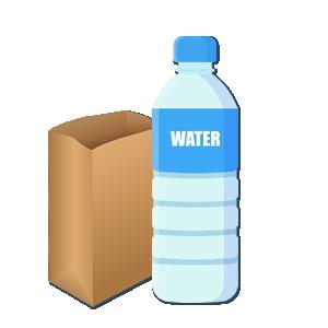 Sicherheitsverhalten - Wasser und Tüte